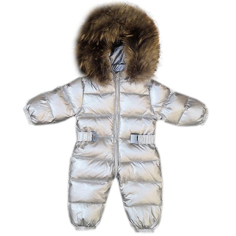 Newborn Baby Duck Down Romper Kids Winter Coat Jacket Snowsuit Hooded Outerwear