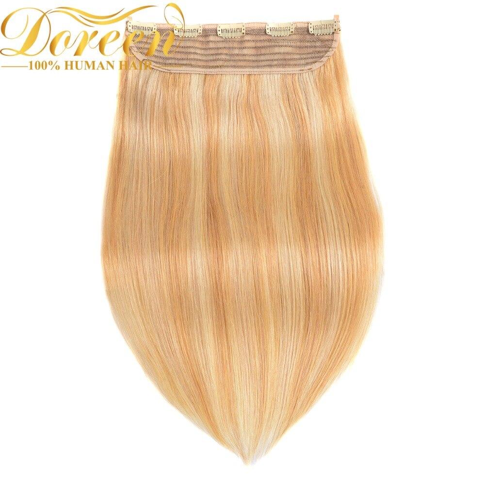 Doreen Europäischen Haar Ein Stück Clip In Menschliches Haar Extensions Maschine Made Remy De Cabello Humano 120g 5 Clips Haarteile Dauerhaft Im Einsatz
