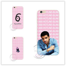 New Drake fashion Hotline jewelry bling cell phone cover Case For Apple iPhone 7 7 Plus 4 4S 5 5S 5C 6 6S 6 Plus  6S Plus