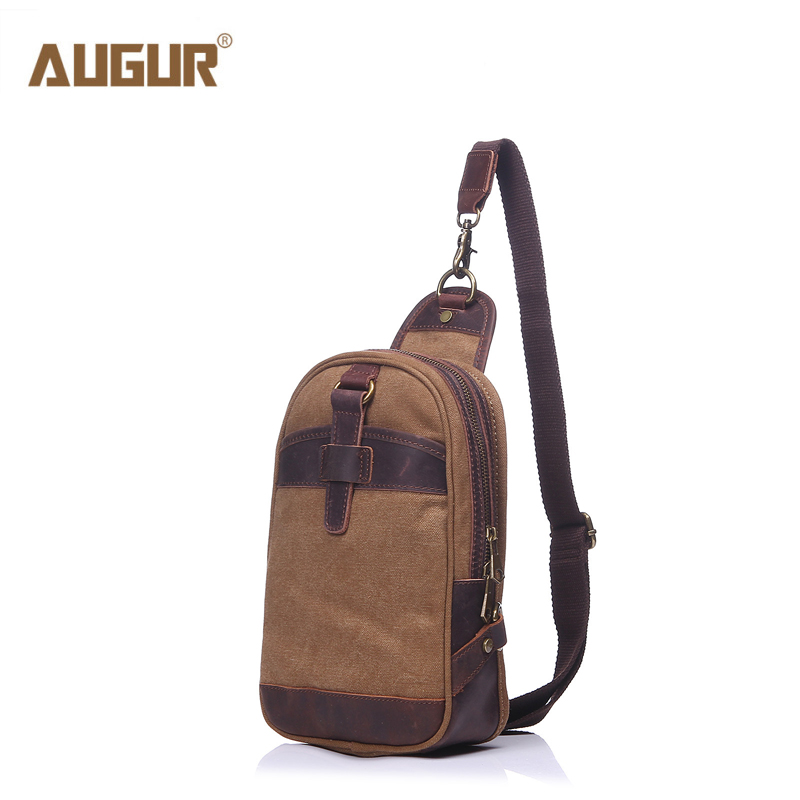 AUGUR Brand Men Messenger Bags Top Quality Canvas Men Crossbody Bag Hobos Small Chest Pack Shoulder Bags for Men Handbags men canvas small sling chest pack handbag vintage shoulder crossbody bag function small men messenger bags grey 19 8 25 cm
