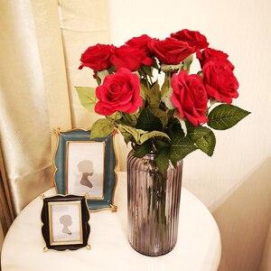 Image 5 - 12 pz/lotto Fiori Artificiali Fiori di Seta Real Touch Rose Fiori Bouquet di Nozze A Casa Del Partito di Falsificazione Fiori Decor Rose Rifornimenti Del Partito
