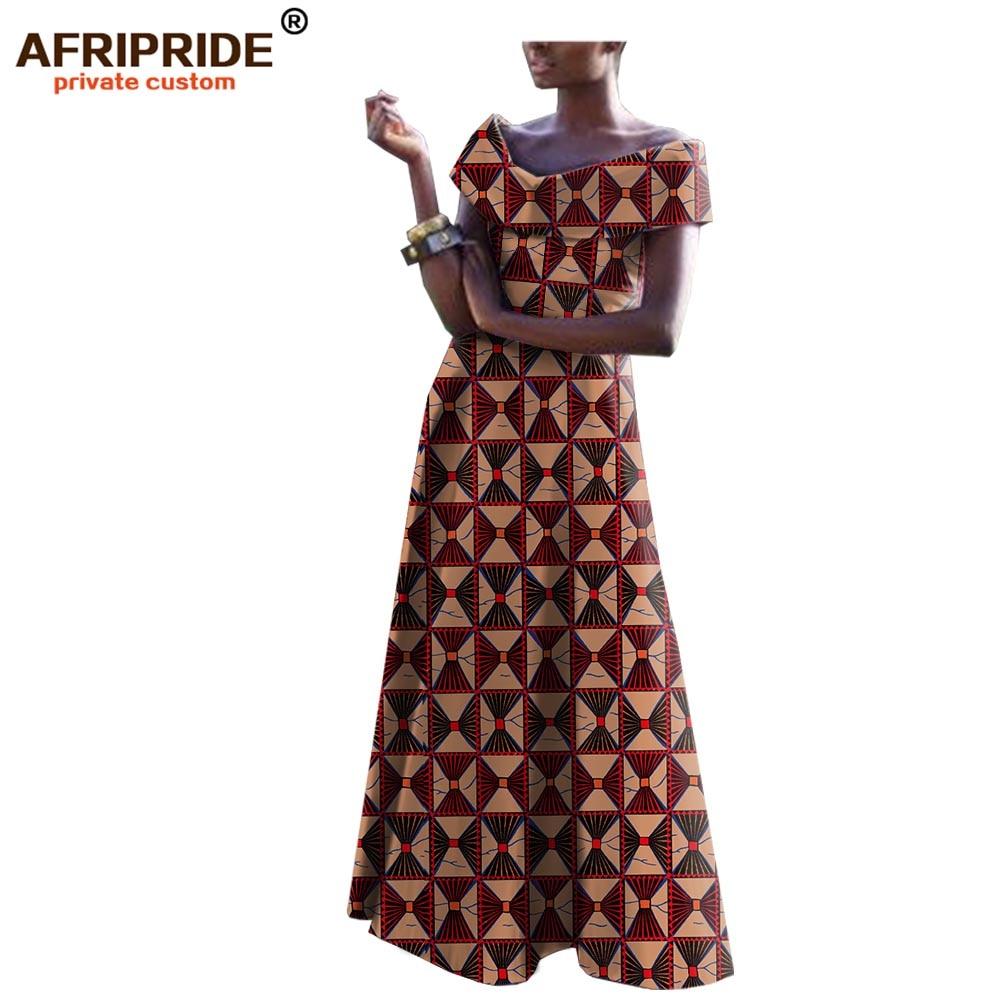 2019 african dresses for women dashiki ankara fabric wax long maxi party print dress short sleeve