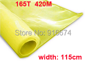 Free shipping  3 meters 165T 420M yellow color polyester silk screen printing mesh 115CM width