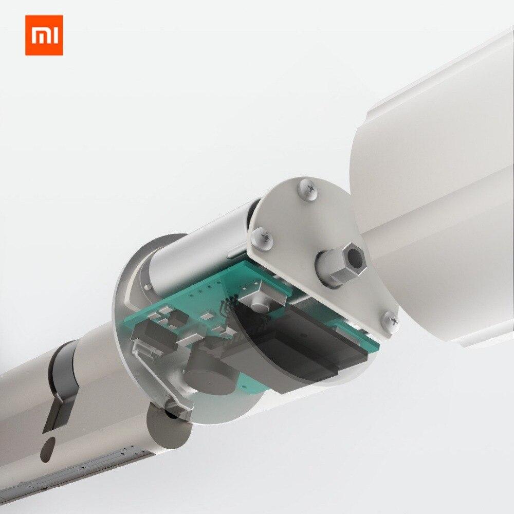 Original xiaomi mi jia aqara cerradura inteligente puerta de seguridad del hogar práctico Anti-robo Puerta de bloqueo núcleo con llave con mi aplicación de inicio - 2