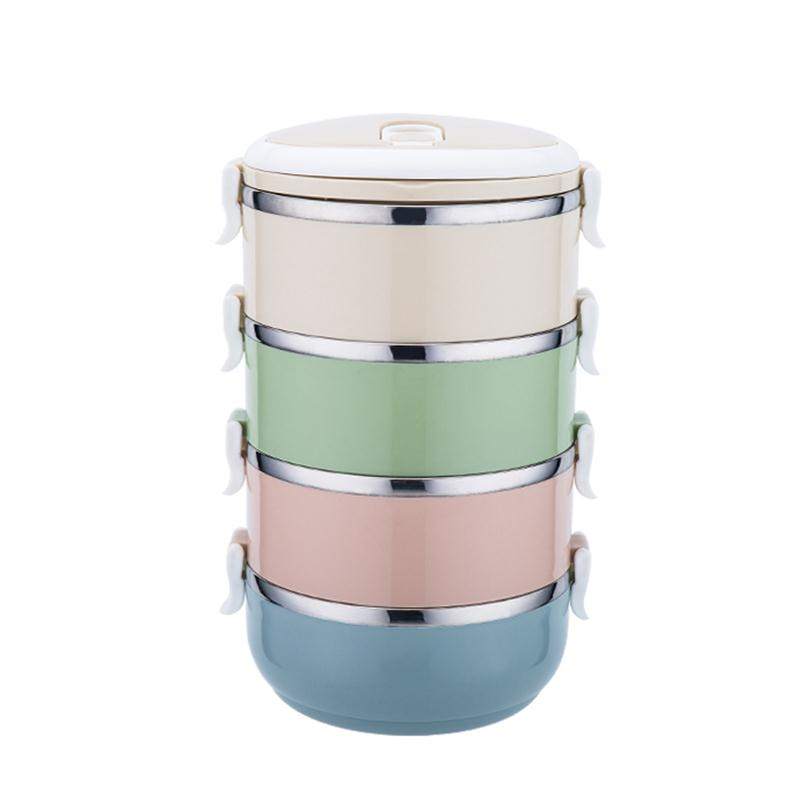 Container Store Lunch Box: Portable Lunch Box Stainless Steel Multi Layer Insulation