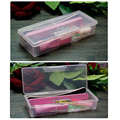 DB01-High capacity Transparent Storage Rectangle Box Nail Art Brushes Tools Holder Case Plastic Nail Art Accessories Box Empty