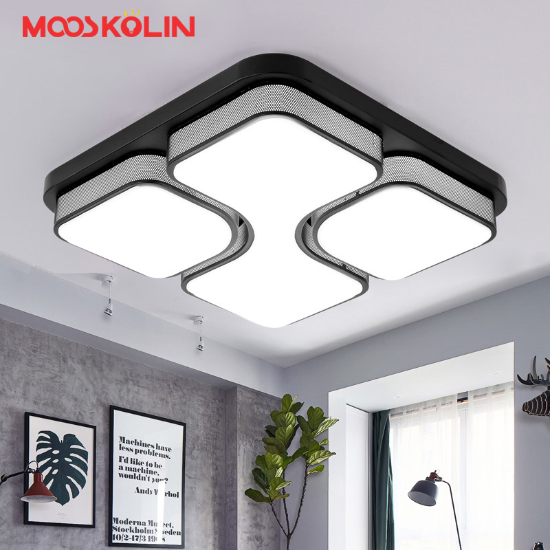 Square Remote Control Living Room Bedroom Kitchen Light Modern Led Ceiling  Lights Luminarias Para Sala Dimming Led Ceiling Lamp