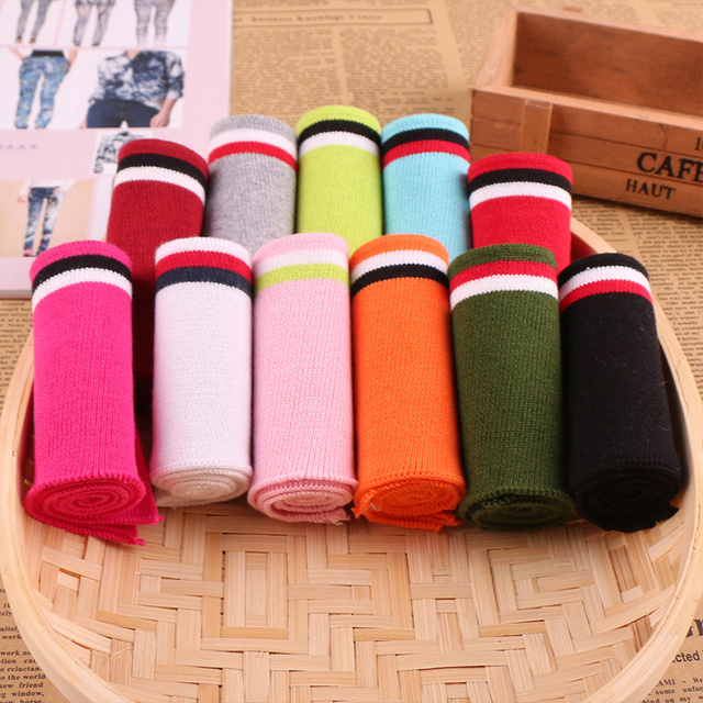 Soft Stretchy Cotton Knitted Fabric DIY Rib Fabric for Sewing Collar Cuffs Garment Accessories Rib-knitted fabric