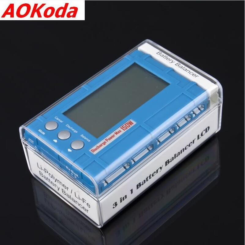 AOKoda 3 in 1 Battery Balancer LCD, Voltage Indicator, Battery Discharger 5W 50W 150W 1pcs 3 in 1 battery balancer lcd voltage indicator battery discharger 5w 50w 150w for choose aok free shipping