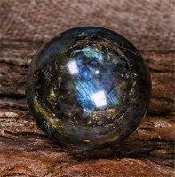 100% высокое качество натуральный Лабрадорит Кристалл полированный шар целебный кристалл драгоценный камень флэш глянцевый камень коллекци...