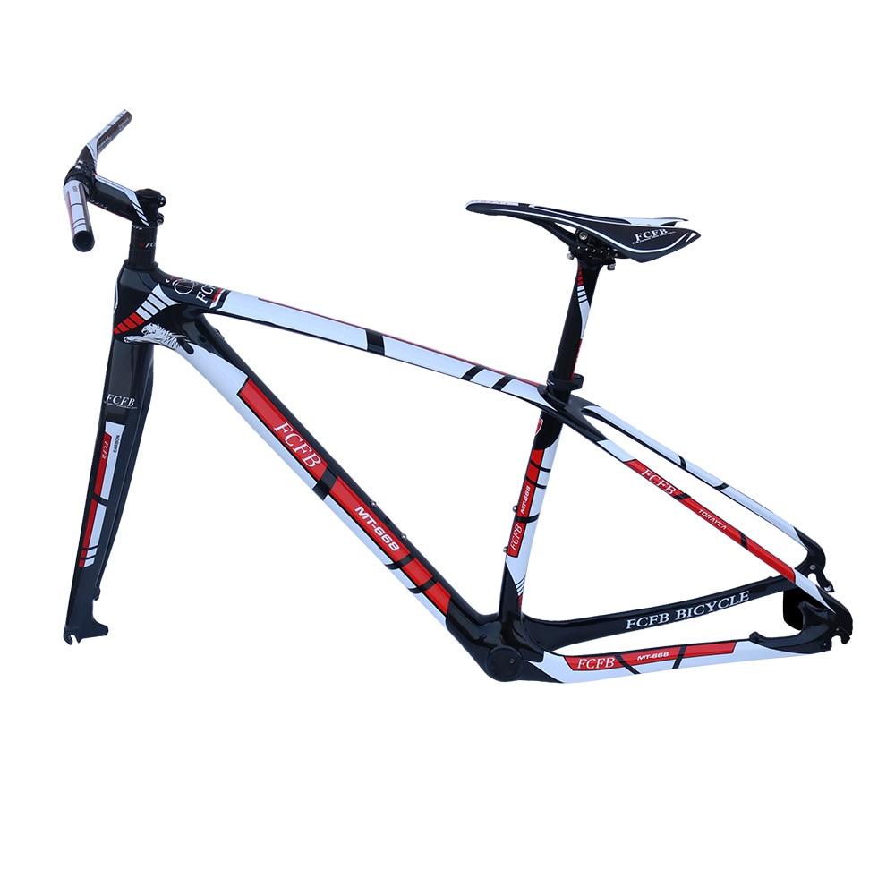 2017 FCFB MTB carbon frame15/17/19/21inch bicycle 27er 29er carbon frame carbon mountain bike frame disc carbon mtb frame PF30 стоимость