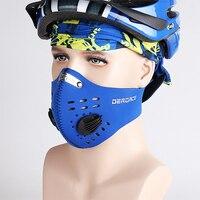 DEROACE Outono Inverno Máscara Flter Poeira Protetor Facial Quente Magia Cachecol Máscara Meia Face Airsoft Máscara Máscara facial Para Bicicleta Fleece