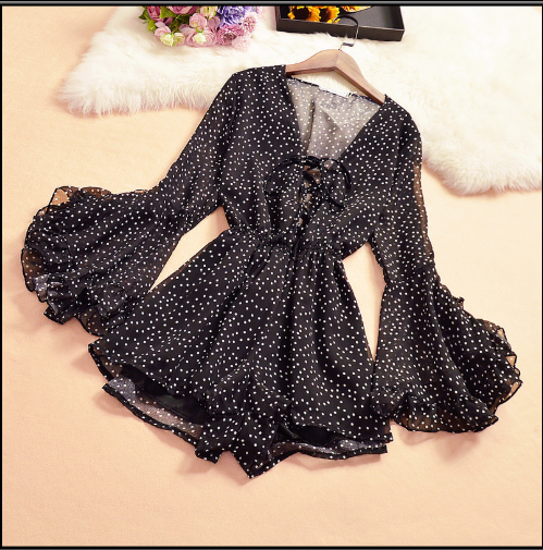 New Women's Playsuits Sweet Summer Casual Fashion Bohemian Print Thin Strap Sleeveless Jumpsuit Black Overalls For Women