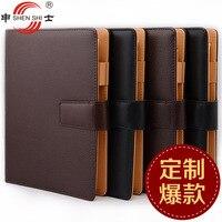 Văn phòng phẩm 26 loạt của da cao cấp belt buckle lá lỏng lẻo xách tay kinh doanh notepad B5/A5 bán buôn 1 cái