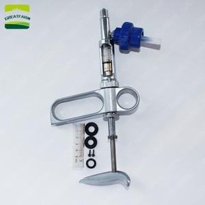 Image 2 - 2/5 ml Liên Tục ống tiêm Súng kim loại tự động ống tiêm kiêm bật lửa cho chăn nuôi động vật lợn Gà thuốc ngừa ống tiêm Bút cảm ứng hai đầu