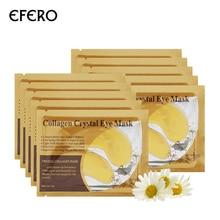 EFERO 8Pairs 24k אבקת זהב קריסטל מסכת עיניים קולגן אנטי אייג 'ינג תיקוני עיניים פאנל מבטלת מעגל כהה פיין קו טיפול פנים