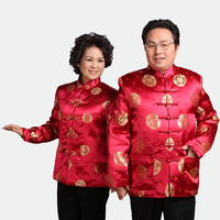 Clothing Aged Old Lovers Birthday Mens Tang Suit Chinese Traditional Men Cheongsam Top Elderly Add Cotton Jacket Parka Tuniek