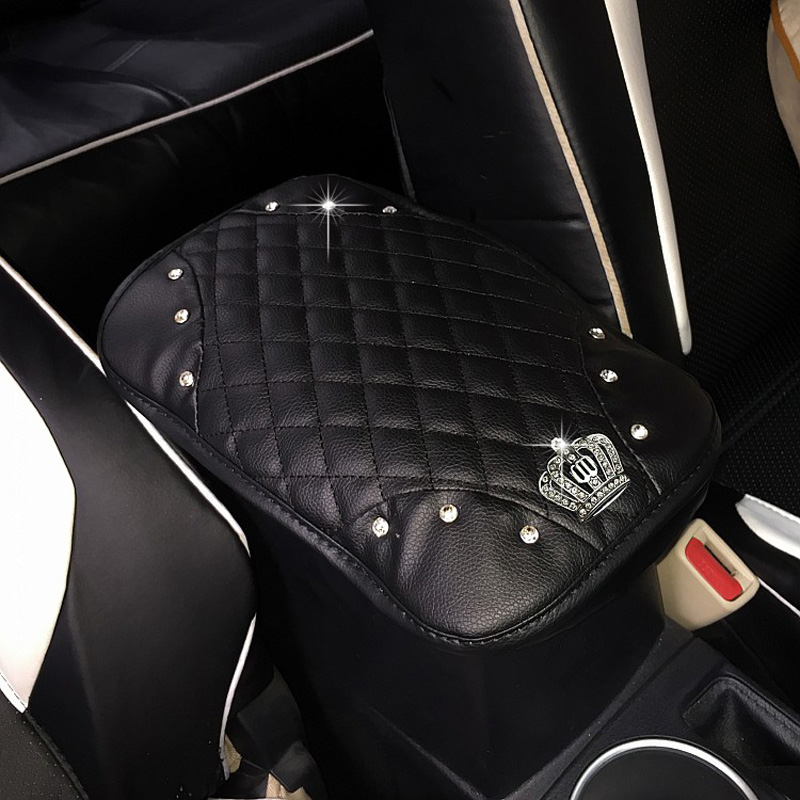 Crown-with-Crystal-Rhinestone-Car-Armrests-Cover-Pad-PU-Leather-Vehicle-Center-Console-Arm-Rest-Box (11)