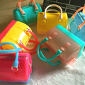 Small Size Kid Girls PVC Jelly handbag Children Pillow Shoulder Bag WomenMini Candy Color Silicon Tote Beach messenger Bag bolsa