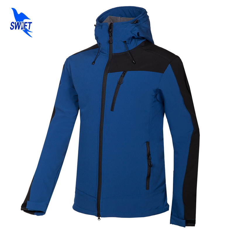 2018 New Hoodie Softshell Jacket Mens Windstopper Waterproof Hiking Jackets Outdoor Sports Winter Coats For Trekking Camping Ski