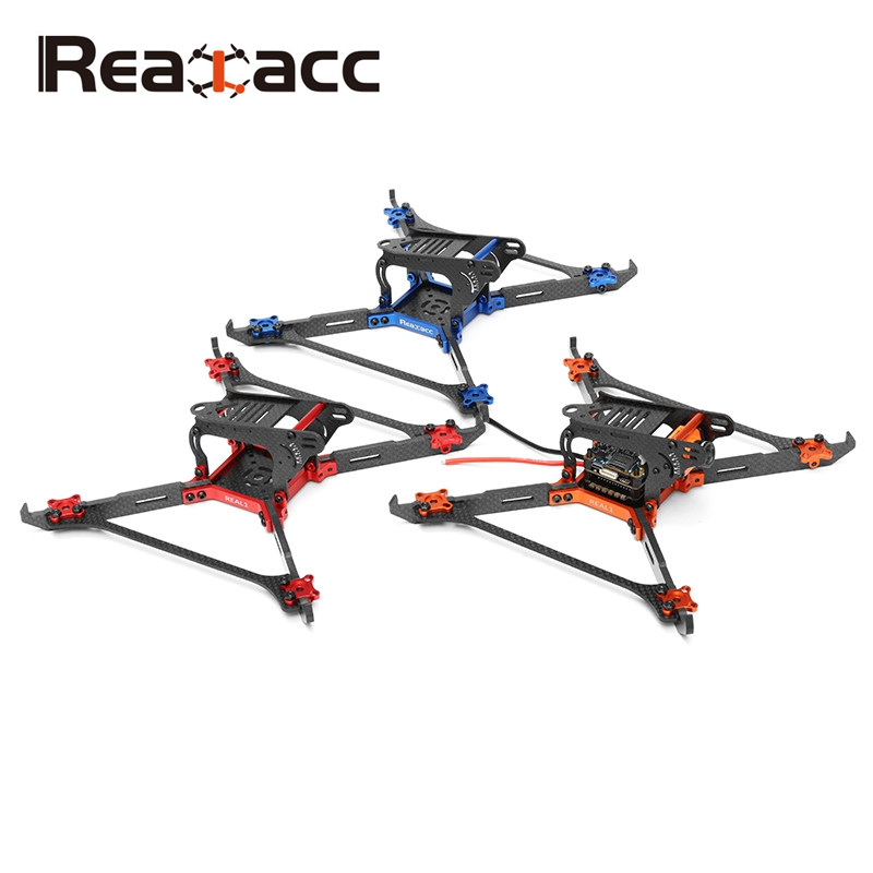 Realacc Real1 220mm 5 Inch 4mm Thickness Vertical Arm CNC Carbon Fiber Frame Kit For RC FPV Racer Racing Drone Quadcopter Toys realacc kt100 100mm carbon fiber frame kit for rc quadcopter multirotor fpv camera drone x type frame accessories purple