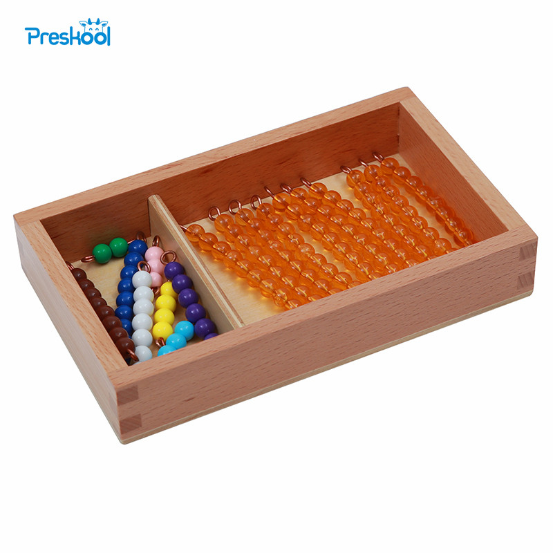 Baby Toy Montessori Bead Bars For Teen Seguin Board With Box Early Childhood Education Preschool Training Learning