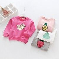 أميرة الطفل ملابس الأطفال grils الربيع الخريف أطفال الفراولة فاكهة الأناناس القمم بالجملة ملابس للبنات 5 قطعة/الوحدة