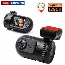 Conkim Автомобильный цифровой видео Камера мини 0805 Ambarella A7LA50 Процессор Super HD 1296 P Видеорегистраторы для автомобилей GPS Logger регистраторы Регистраторы SOS ADAS