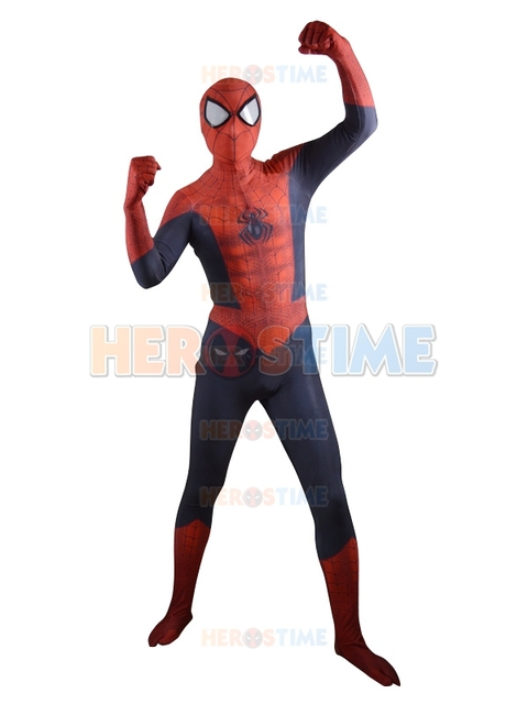 2015 New Ultimate Spider-Man 3D Shade Pattern Superhero Costume Lycra Spandex Zentai Spiderman Halloween  sc 1 st  AliExpress.com & 2015 New Ultimate Spider Man 3D Shade Pattern Superhero Costume ...