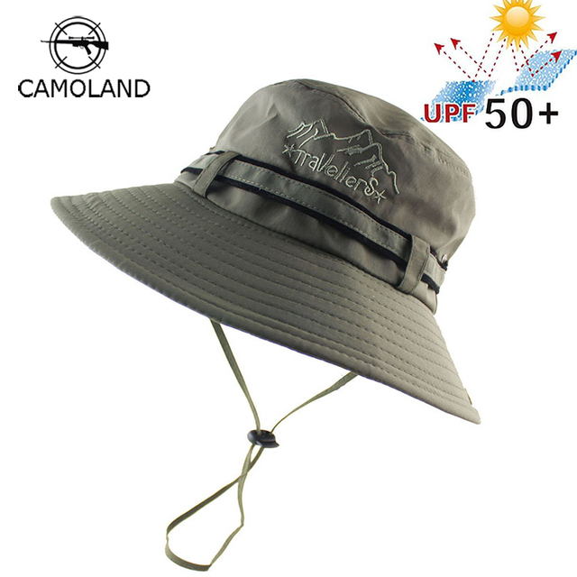 2018 UPF 50+ Summer Sun Hat Bucket Men Women Boonie Hat Outdoor UV  Protection Long Wide Brim Army Hiking Fishing Breathable Mesh 3c0643e66ec9