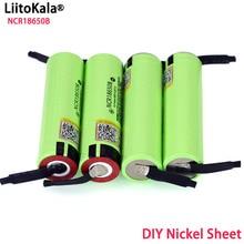 Liitokala新オリジナル18650 NCR18650B充電式リチウムイオン電池3.7v 3400mahのバッテリーdiyニッケルシート