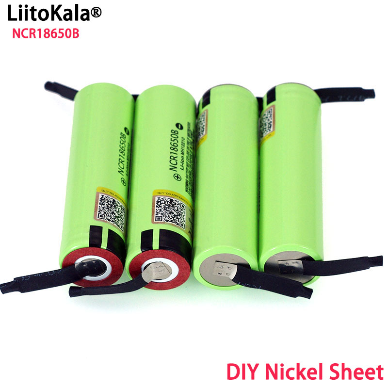 Liitokala New Original 18650 NCR18650B Rechargeable Li ion battery 3.7V 3400mAh batteries DIY Nickel Sheet-in Replacement Batteries from Consumer Electronics