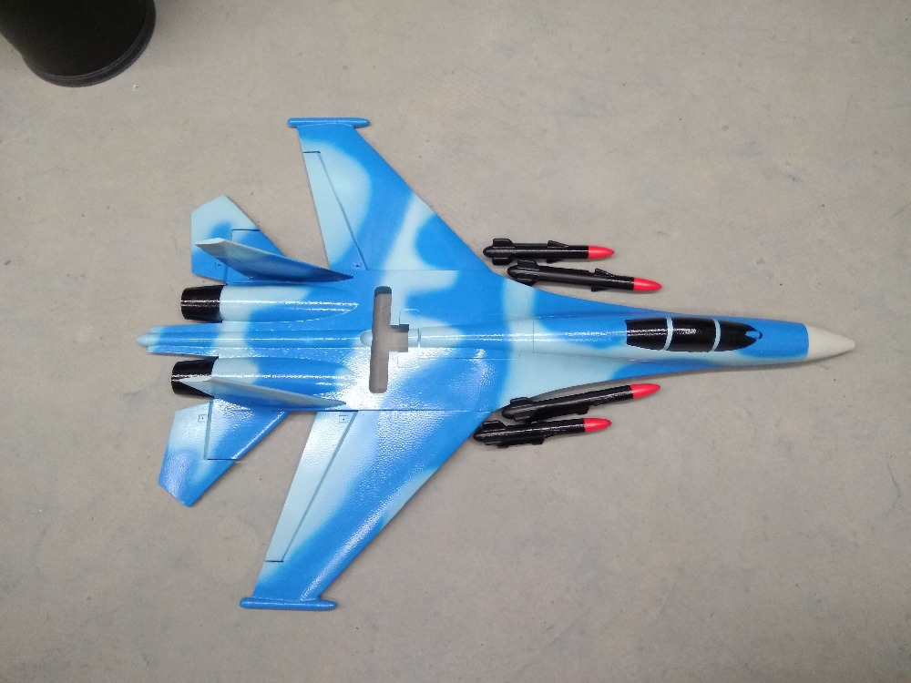 white EPO plane SU-27 RC airplane tail pusher ( UNASSEMBLED KIT ONLY FOAM AND ROD PART/NO GLUE AND NO RADIO NO MOTOR ESC.)
