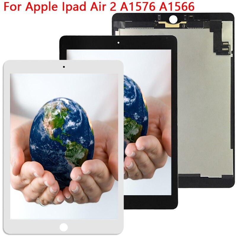 Nouveau testé 9.7 ''pour Apple ipad Air 2 ipad 6 A1567 A1566 écran LCD avec écran tactile remplacement numériseur panneau assemblage