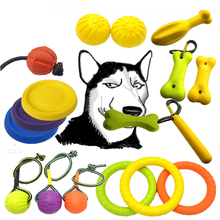 New Pet Toys Training Ball Teeth Bite Multiple Color Natural Rubber Dog Toy Rope Chew
