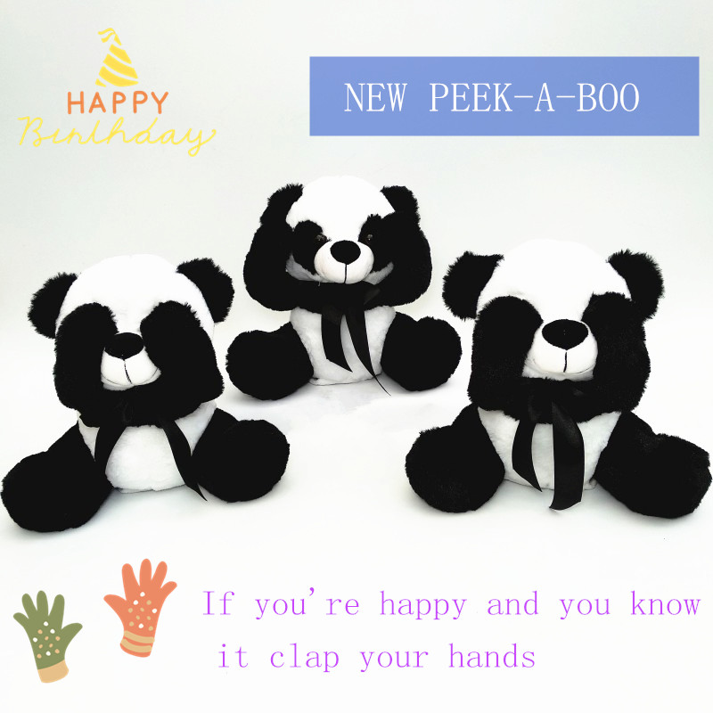 2018 Nou PEEKABOO Panda jucărie de pluș Premium PP de bumbac padded - Jucării moi și plușate