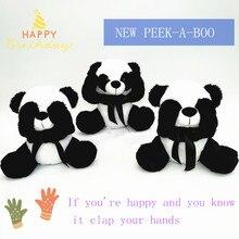 New Plush Panda Plush Toy Premium PP Cotton Padded Doll Toy Children Early Learning Toy Birthday Gift panda shaped plush pp cotton toy white black