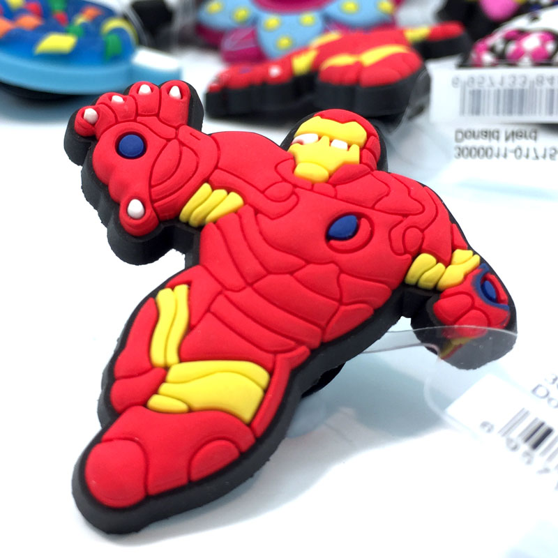 1pcs High Quality The Avengers Shoe Charms Accessories Party Home Decoretion Kids Children Gift Fashion 1pcs high quality hello kitty hot cartoon shoe charms accessories party home decoretion kids children gift fashion