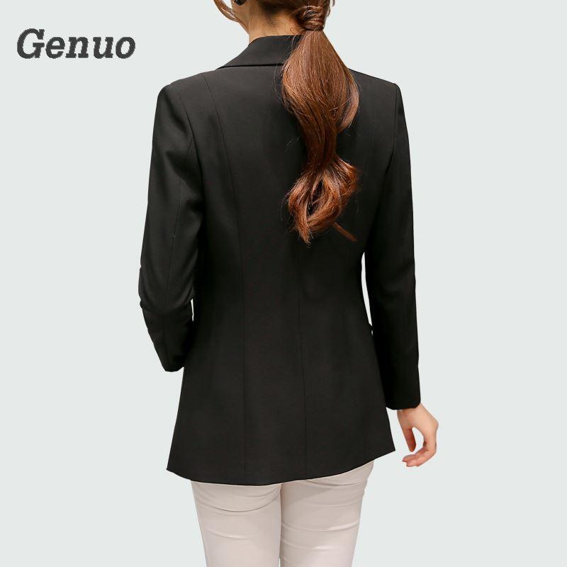 Wine Red Black Women Blazers And Jackets 2019 New Spring Autumn Fashion Single Button Blazer Femenino Ladies Blazer Female