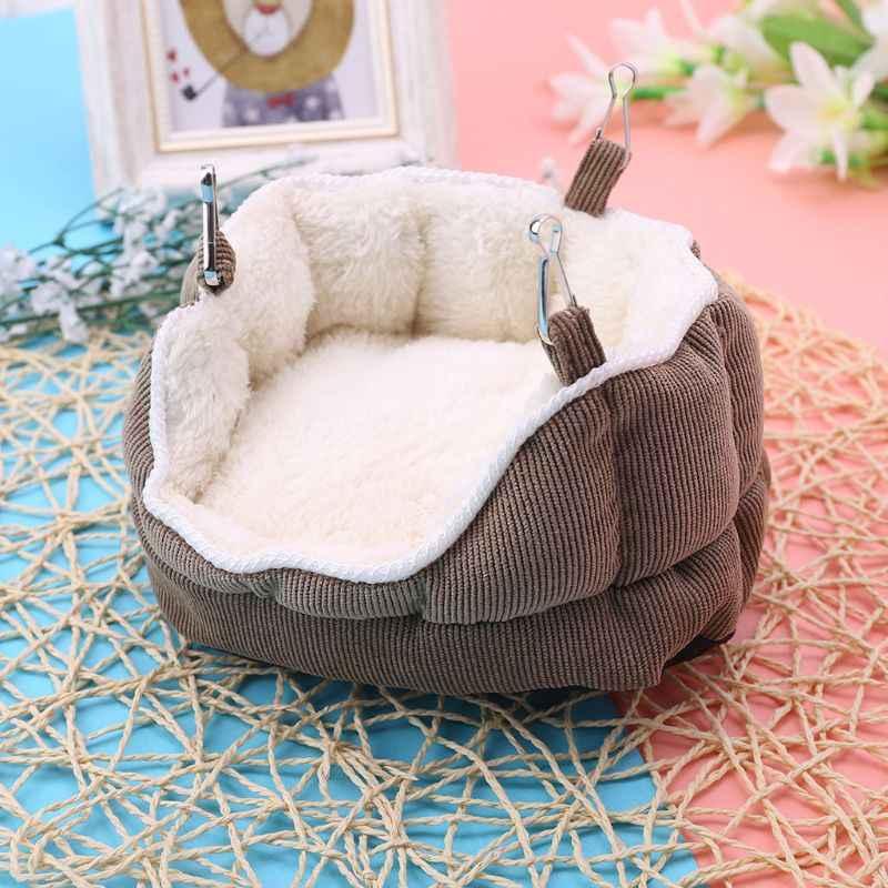 Ninho de animais de estimação veludo pendurado sofá cama rede para furão hamster cobaia esquilo-hji