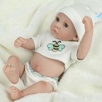 10 pulgadas Renacer Muñecas Renacer Bebé Realista Muñeca de Silicona Suave Llena de Vinilo Reborn Doll Para Niñas