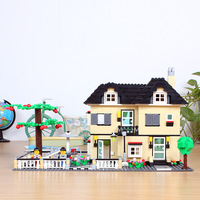 Puzzle Assembly Urban Villa Blocks House Building Model Toys for Children
