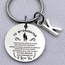 Stainless Steel Jewelry To My Daughter Always Remember I Love You Keychain Birthday Gift Key Chain Rings