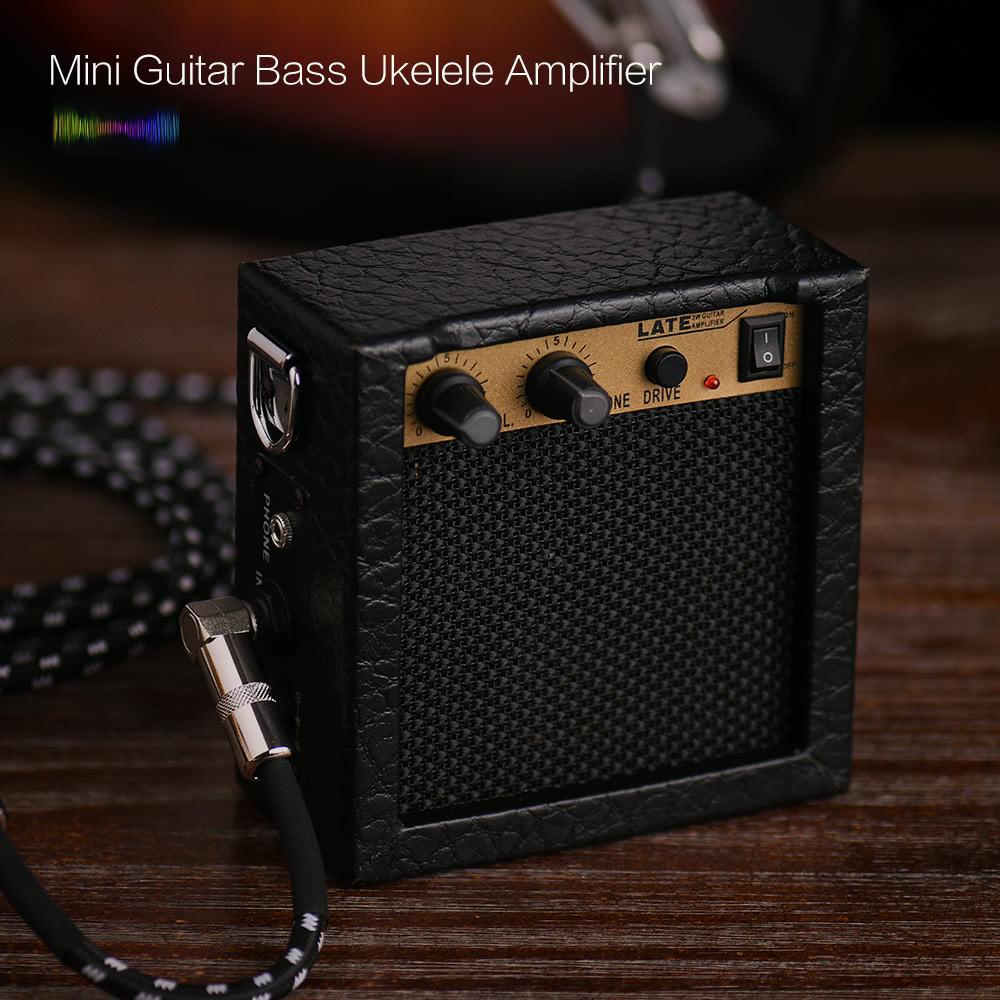 все цены на  3W 9V Mini Guitar Bass Ukulele Ukelele Amp Amplifier Speaker  в интернете