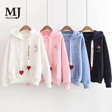 MJ041A Pink Velvet Sweatshirt Hoodies korean Sweat Femme Bluza Damska Moleton Adventure Time Guarda Roupa Sudaderas Felpe Haut