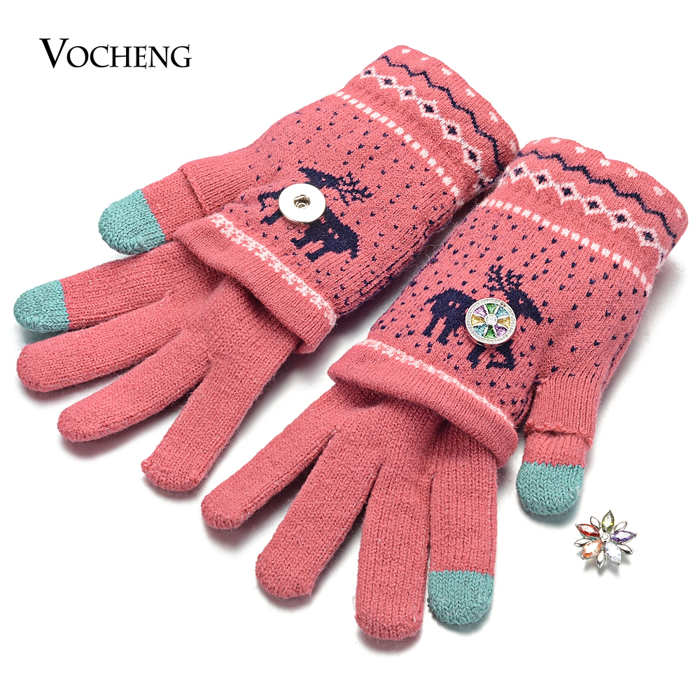 10pcs lot 3 Colors Winter Glove With Snap Jewelry Fits 18mm GingerSnaps Jewelry NN 697 10