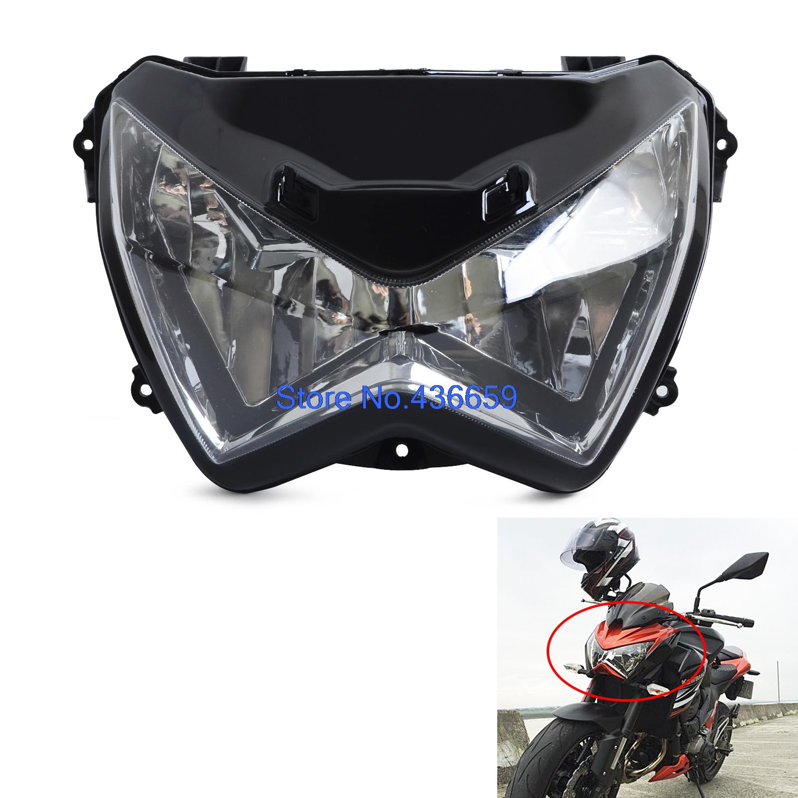 New Clear Headlight Front Head light Lamp For Kawasaki Z250 Z800 2013 2014 2015 2016 Z300 2015-2016