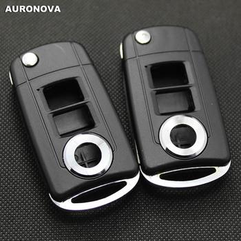 AURONOVA nowa aktualizacja składane klucze dla Toyota Camry 3 przyciski zaktualizowane obudowa pilota z klucz samochodowym klasycznego typu tanie i dobre opinie China Car Key ABS Plastic Copper Blade