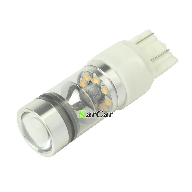 Yüksək gücü 100W 850LM W21 / 5W Avtomobil LED Əyləc İşıq - Avtomobil işıqları - Fotoqrafiya 3