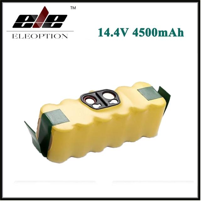 Eleoption14.4V 4500mAh For iRobot Roomba Ni-MH Vacuum Cleaner Rechargeable Battery for 500 550 560 600 650 700 780 800